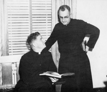 Fathers Shea and Sylvester, 1956.